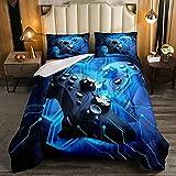 Juego de edredón Gamer tamaño King, juego de edredón 3D para juegos Gampad para niñas y niños, decoración de la habitación, juego de cama con 2 fundas de almohada