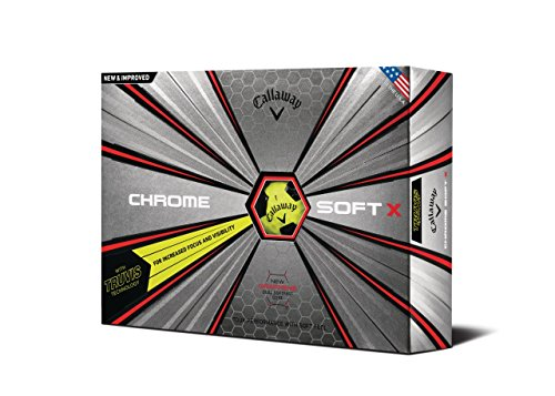 Callaway Golf Chrome Soft X Truvis Golf Balls, (One Dozen), White/Black