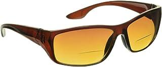 proSPORT Bifocal Reading Sunglasses Reader HD Amber Anti Reflective Men Women