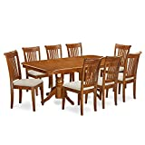 9 Pc Dining room set Table with Leaf and 8 Chairs for Dining