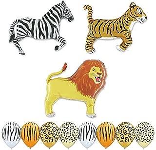 Giant 11 pc Safari Balloon Animal Birthday Party kit