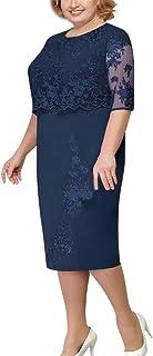 Luckycat Elegante Vestido Verano Manga Corta Vestido Tallas