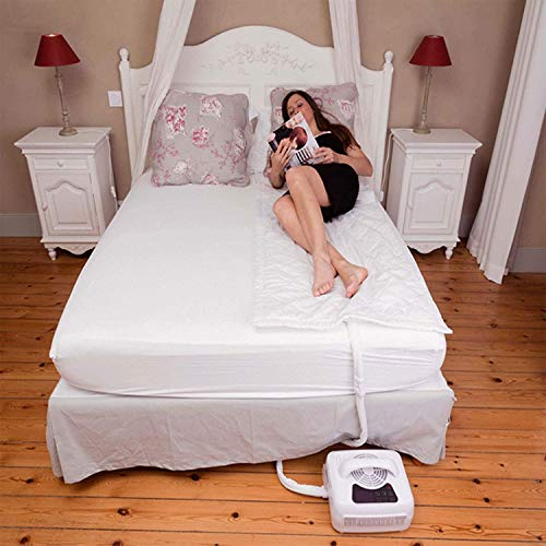 """Cooling and Heating Mattress Pad for Bed- Individual Temperature Control, Great Sleep Enhancement, Wireless Remote Integration (Half Queen 80"""" x 30"""")"""
