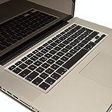 LIOShop Silikon Schutzabdeckung für MacBook, Air-und Pro Tastatur, Deutsch-EU-Enter, QWERTZ * Schwarz