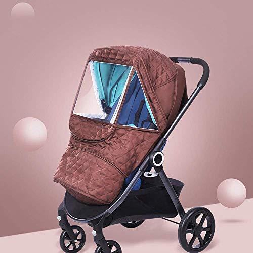 El carro de bebé cubierta de la lluvia caliente grueso cubierta de la lluvia del cochecito cubierta de la lluvia del coche de bebé del carro cubierta de la lluvia a prueba de viento vestido fácil de i