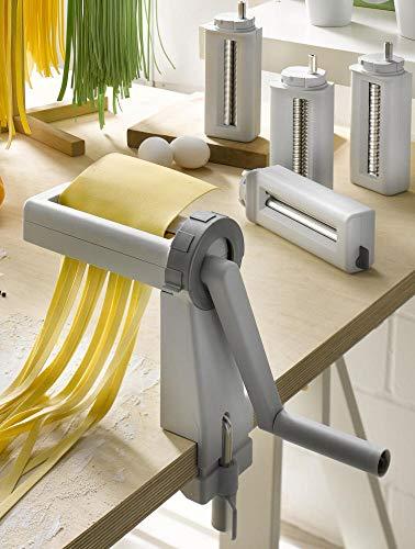 ORIGINAL NUDELMASCHINE MIT 3 VORSÄTZEN ZUM AUSWELLEN & KNETEN + Spaghetti + BANDNUDELN - Made IN Germany