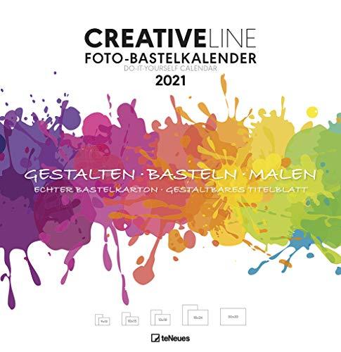 Foto-Bastelkalender groß weiß 2021 - Kreativ-Kalender - DIY-Kalender - Kalender-zum-basteln - 32x33 - datiert
