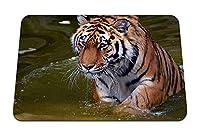 22cmx18cm マウスパッド (タイガーフェイスプレデター水泳) パターンカスタムの マウスパッド