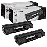 LD Compatible Toner Cartridge Replacement for Canon 126 3483B001 (Black, 2-Pack)