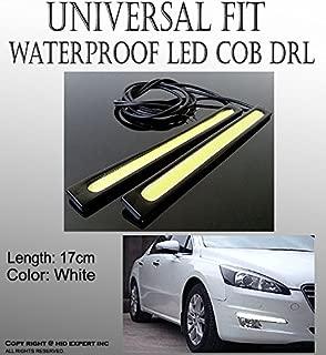 ICBEAMER 17cm LED Universal Waterproof Car Trucks Daytime Running Light Strip Lamp with 3M Tape [Color:Super White]