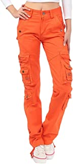 GAGA Womens Autumn Cargo Pants Loose Multi-pocket Outdoors Trousers