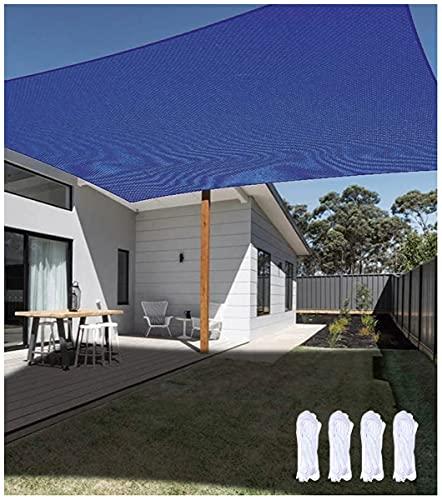 Z&X Parasol Rectangular, toldo, Parasol, Protector Solar Permeable al Aire Libre, Impermeable,Cubierta de Tela para Patio, Patio, jardín, césped, Azul(Size:2.5 * 2.5m(8'*8'))