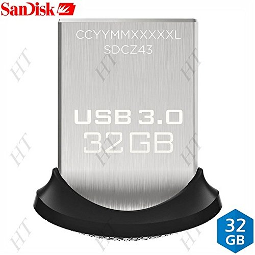 SanDisk USB-Stick Ultra Fit 32 GB USB 3.0 kompatibel mit Windows XP / Vista / 7 / 8 / 10