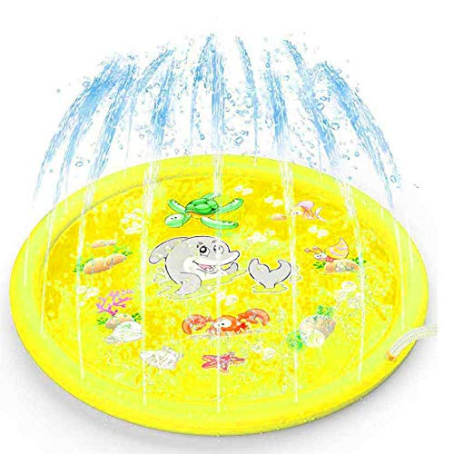 NOBRAND Sprinkler Toddler Outdoor 150CM Backyards Wadding Learning Splash Pad Actividades Toy Sprinkler Inflatable Beach XY-25