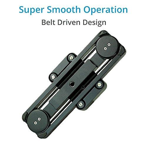 "Proaim Wigo 12""/30cm Portable DSLR Camera Camcorder Slider with Load Capacity 10Kg/22lbs   Professional Track Dolly Rail Slider Tripod Compatible Video Stabilization System (SL-WG-12)"