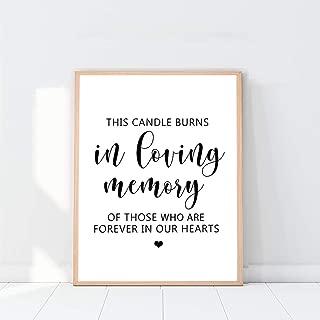 Best printable in loving memory sign Reviews
