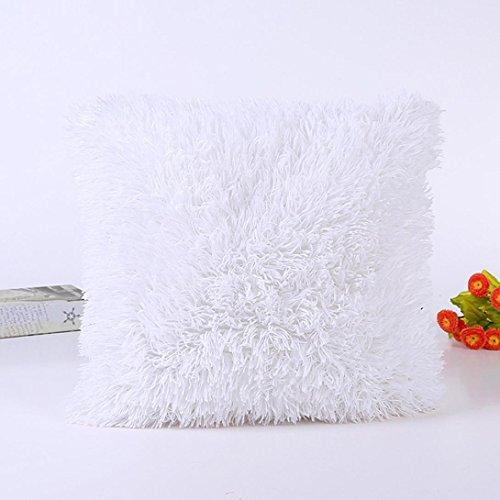 kingko® taie d'oreiller 45cm * 45cm Sofa Taille Throw Housse de Coussin Home Decor (Blanc)