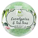 Nature's Beauty Eucalyptus & Tea Tree BATH BOMB, 4.6 Oz, Spa Bomb Fizzies, Relieves Sore Muscles,...