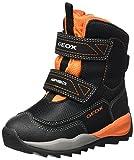 Geox J Orizont Boy ABX F, Botas de Nieve Niños, Negro (Black/Orange), 30 EU