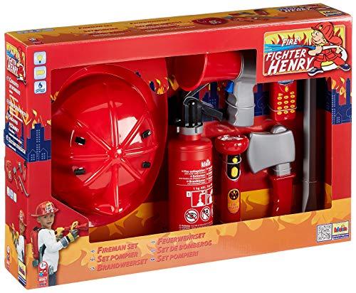 Theo Klein-8967 Set de bomberos con 7 piezas, juguete, Multicolor (8967)
