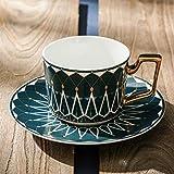 CJHYY Patrón Taza y platillo de Porcelana de Lujo Cerámica Juegos de té Simples Tazas de café Modernas Utensilios de Cocina