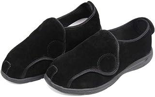 Slipper met Easy Wrap Around Touch Fasten, mannelijke en vrouwelijke voeten dikke hallux valgusschoenen, middelbare en oud...