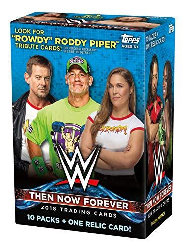 Topps 2018 WWE Wrestling Blaster Caja 10 Packs 1 tarjeta reliquia Garantizado