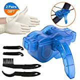 XCOZU Bike Chain Cleaner Tool Kit, Bicycle Chain Cleaning Kit with Gear Chain Brush/Scrubber/Crowbar, Cycle...
