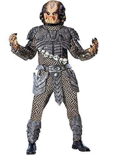 Aliens Vs Predator Deluxe Predator Costume, Black, Standard Size