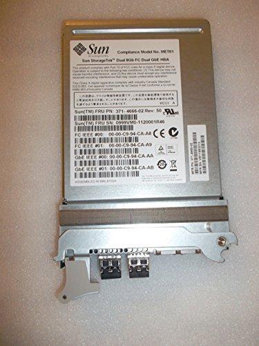 Sun Microsystems/Oracle sg-xpciefcgbe-e8-z (371–4666) 8GB/s PCI Express Dual FC/Dual Gigabit Ethernet adaptador de Host Express memoria, Emulex para Sun Blade 6000a90-d chasis