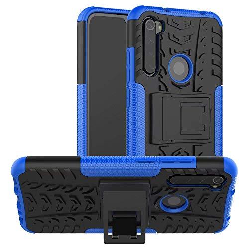 Capa Capinha Anti Impacto Para Xiaomi Redmi Note 8 Normal Tela 6.3Case Armadura Hybrid Reforçada Com Desenho De Pneu - Danet (Azul)