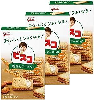 江崎グリコ ビスコ<香ばしアーモンド> 15枚 ×3個