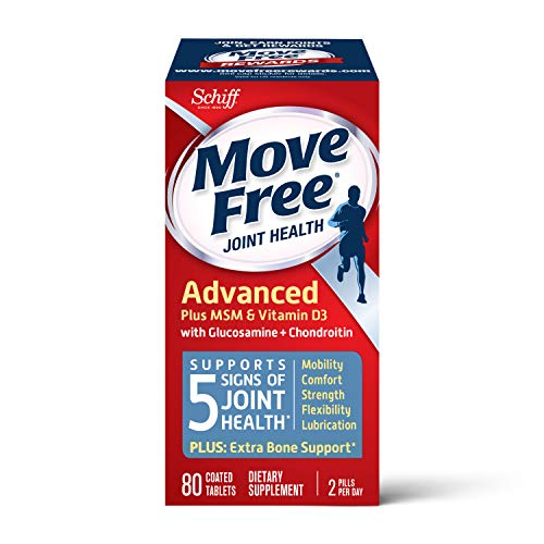Glucosamine Chondroitin MSM & Vitamin D3 Joint Health Supplement, Move Free Advanced Joint Support...