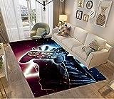Alfombras Dormitorio Juvenil Chico Infantiles Niño Juegos 3D Gamer Galaxia Alfombras De Habitacion Rectangular Lavables Pelo Corto Vinilicas Grandes Pequeñas Alfombras Salon (marrón,120x160 cm)