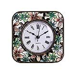 S.W.H Reloj de Mesa Británico Clásico Reloj de Mesa Decorativo con Pájaro para Salon Dormitorio Decoracion de Hogar, Negro