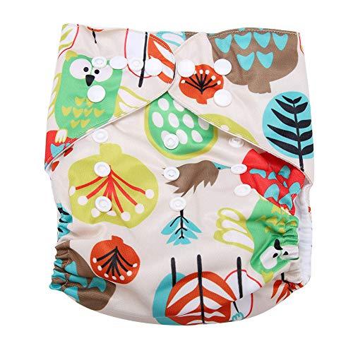 Gebloemd badpak luier baby Infant Snap Absoris wasbaar badpak luier herbruikbaar zwemluier voor baby peuters zwemmen lessen eenheidsmaat #8