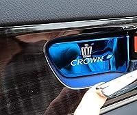 トヨタ クラウン210系 CROWN 用品 インテリアパネル インナーハンドルカバー4pセット3色選択可 (ブルー)