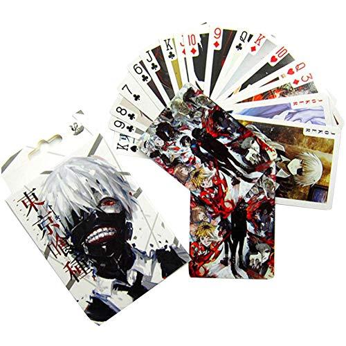 SGOT Anime Poker, One Piece Poker, Naruto Tischpoker Karten Spielkarten Deck Geschenk Spielzeug Sammeln 54 Sheet( Tokyo Ghoul)