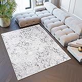 Tapiso Sky Alfombra de Salón Comedor Dormitorio Juvenil Diseño Moderno Crema Gris Geométrico Vintage Fina 200 x 300 cm