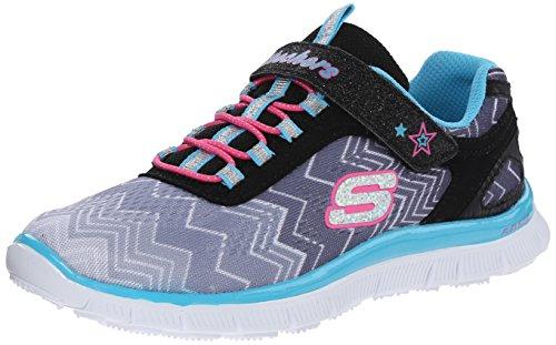 Skechers Skech AppealZiggy Zag, Mädchen Sneakers, Schwarz (BKTQ), 29 EU