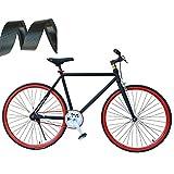 SEHNL 2Pcs del Camino/Bicicleta de Manillar Cinta de Malla Negro Diseño Antideslizante Impermeable Cinta de Manillar PU Suave Esponja de Cinta Accesorios de la Bici Cinta Roja