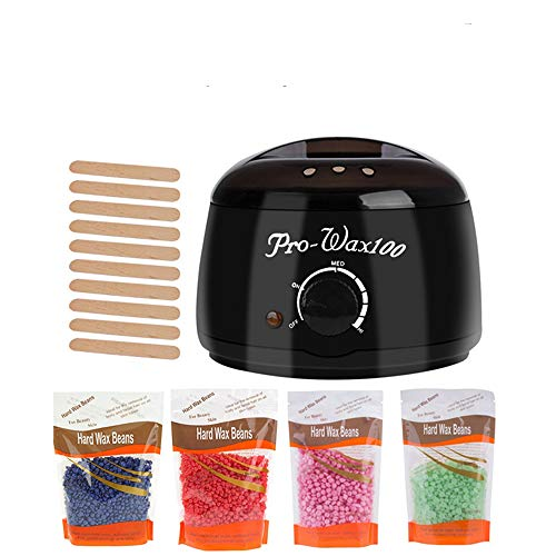 Wax Warmer, elektrisch ontharen Wax-melt Machine met 200g wasbonen 10st Hout Stickers voor Bikini Area Spa,UK Plug