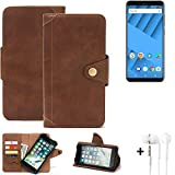 K-S-Trade® Mobile Phone Wallet Case Compatible With Vernee