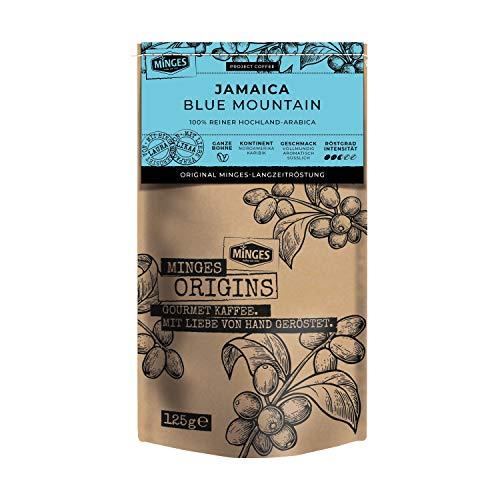 MINGES Origins 100% Arabica 'Jamaica Blue Mountain', ganze Bohnen, 125 g