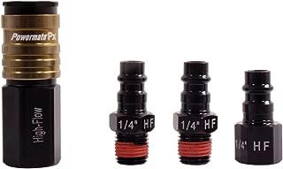 Powermate Px P036-0140SP High Flow Aluminum Female Coupler Plug Set,