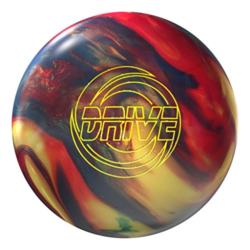 Storm Drive Bowling Ball, Gold/Navy/Red Hybrid, 15lbs