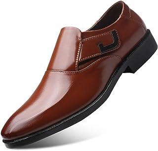 Dingziyue - Scarpe da uomo in pelle da uomo, da lavoro, da uomo, set di piedi di scarpe da sposa (colore: marrone, taglia 44)