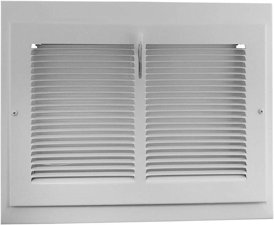 Vintage White Houston Mall Steel Baseboard Registers - X Outside Dime 12