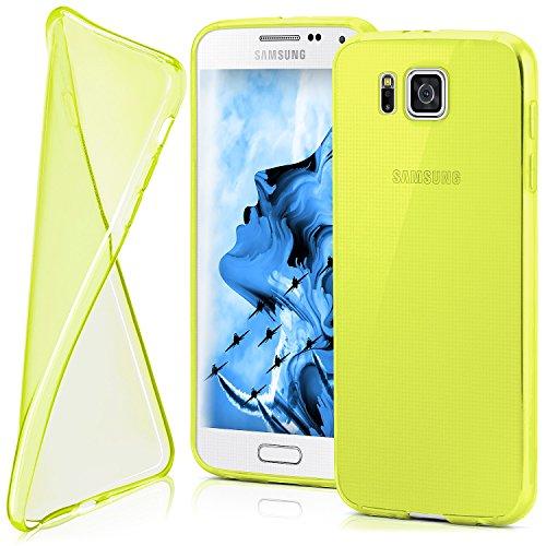 MoEx® Funda [Transparente] Compatible con Samsung Galaxy Alpha | Ultrafina y Antideslizante - Jaune