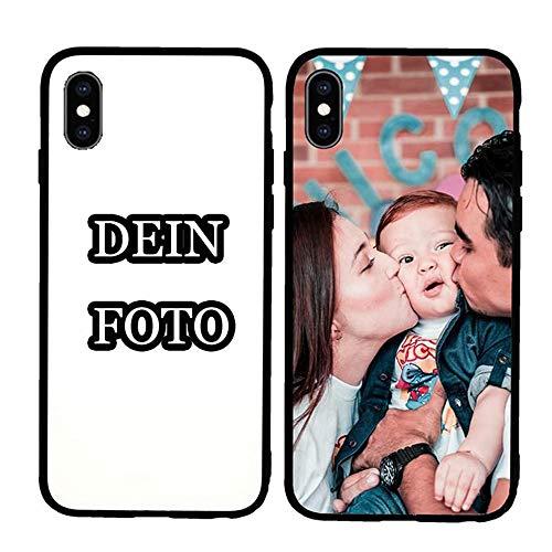 ANG Personalisierte Handyhülle für iPhone X,Soft TPU Schutzhülle mit Foto, Bildern oder Text Selbst Gestalten,HD Glass Schutzhülle für iPhone X